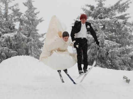 Post Wedding Ski Jumping